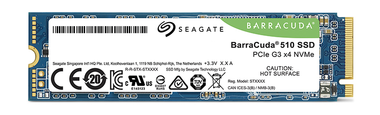 Seagate BarraCuda 510 M.2 NVMe Solid State Drives (SSD)